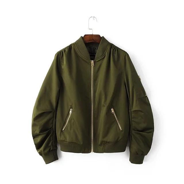 Spring collection lady motor jacket fashion European style zipper jacket coat