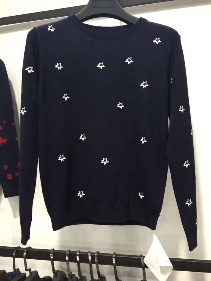 Fashion design custom pattern acrylic winter pullover sweater for men