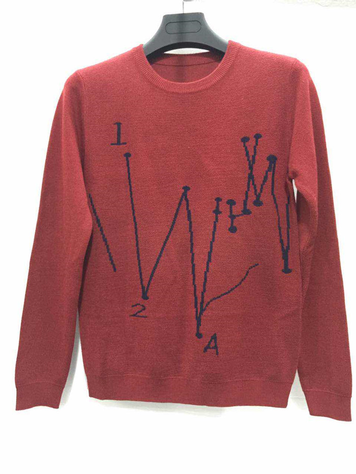 Simple design red crew neck cheap price man sweater factory