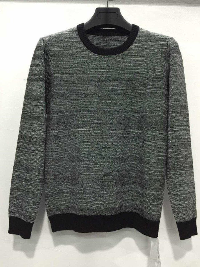JM latest design blank grey crew neck man sweater manufacture
