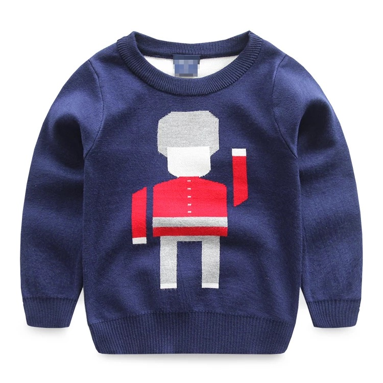 8041a54ae537 China clothing manufacturer wholesale kids 100% cotton sweater custom made sweater  designs for kids
