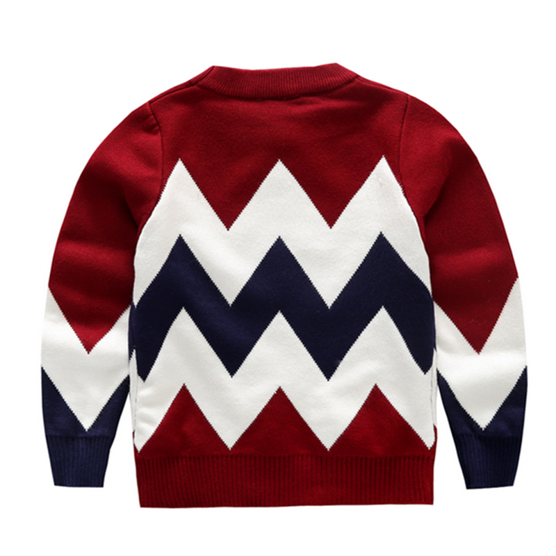 Kids fashion style pullover long sleeve boys winter sweater