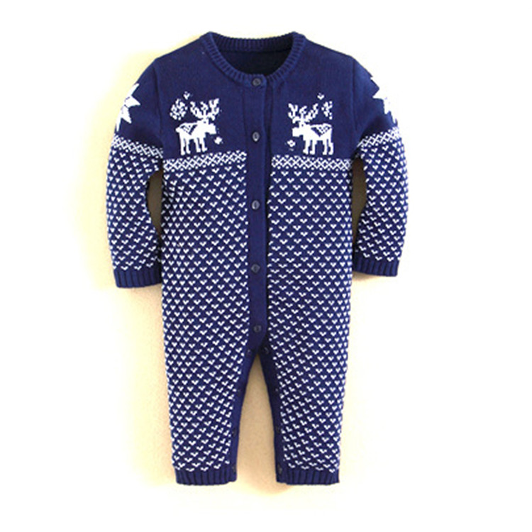 0-3 months newborn clothing dot design baby knitted rompers