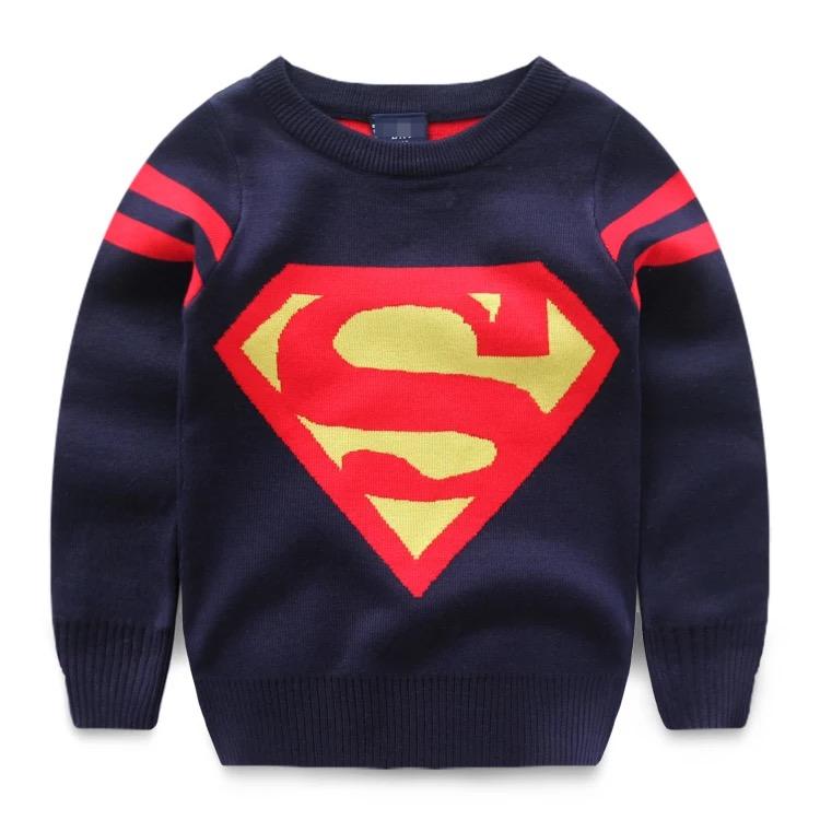 Newest stylish kids knitting pattern black sweater kids pullover
