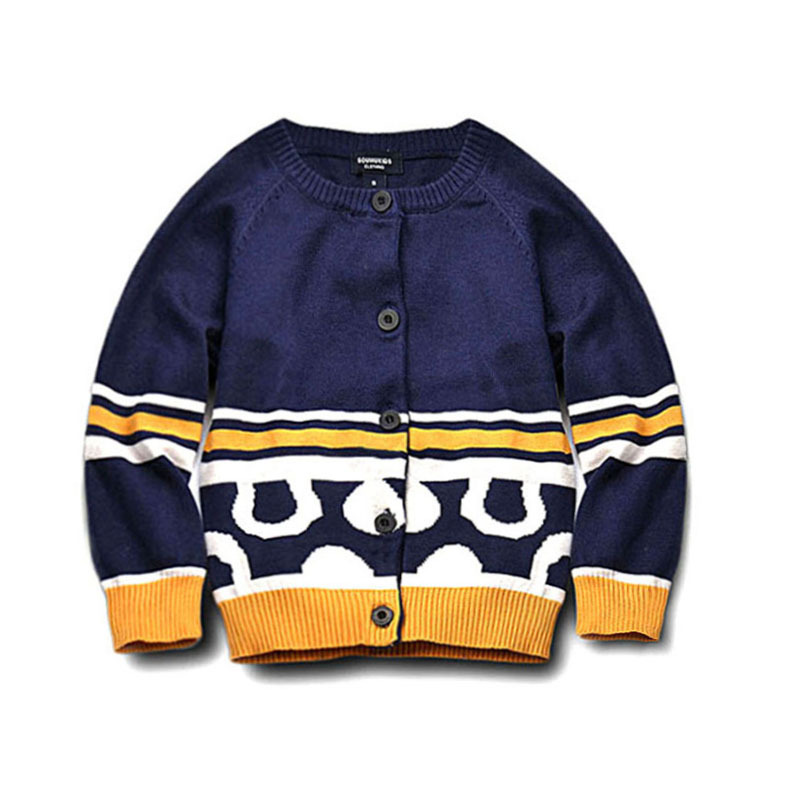 Latest style nice pattern 12GG knitting woolen kid cardigan