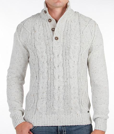 Fashionable European style fleece blended cable knitting sweater warm winter white sweater pullover designs for men