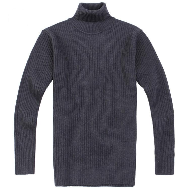 Latest turtleneck design men's high collar shrug sweater
