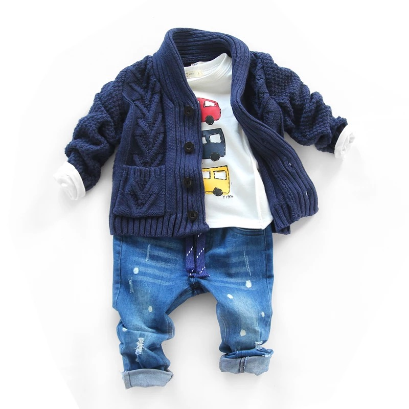 High quality cable fleece blend sweater cadigan fashion sweater design for kids