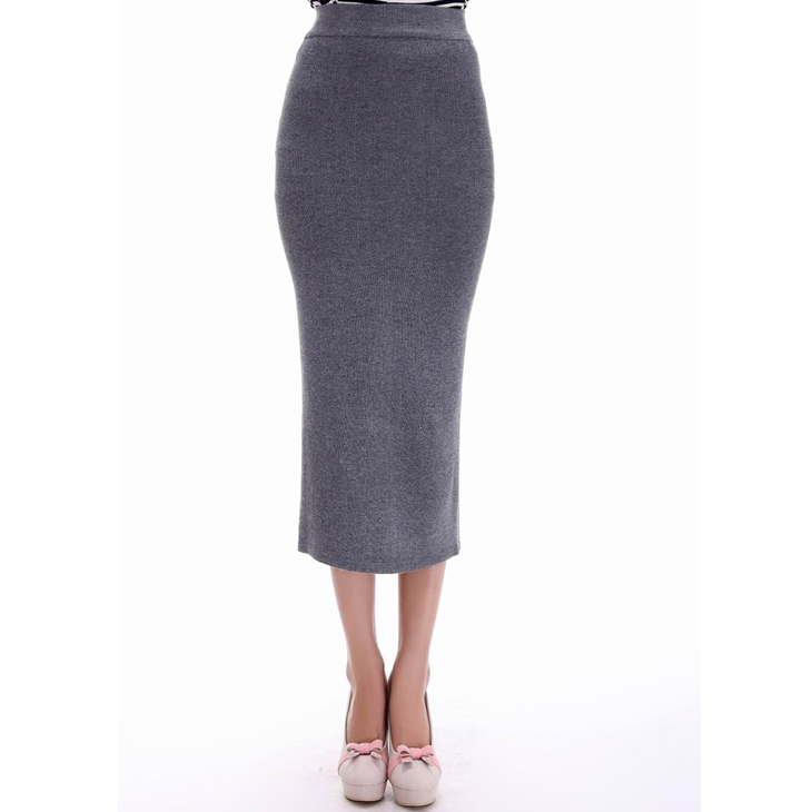 Fashion official ladies long high-waisted pencil skirt women