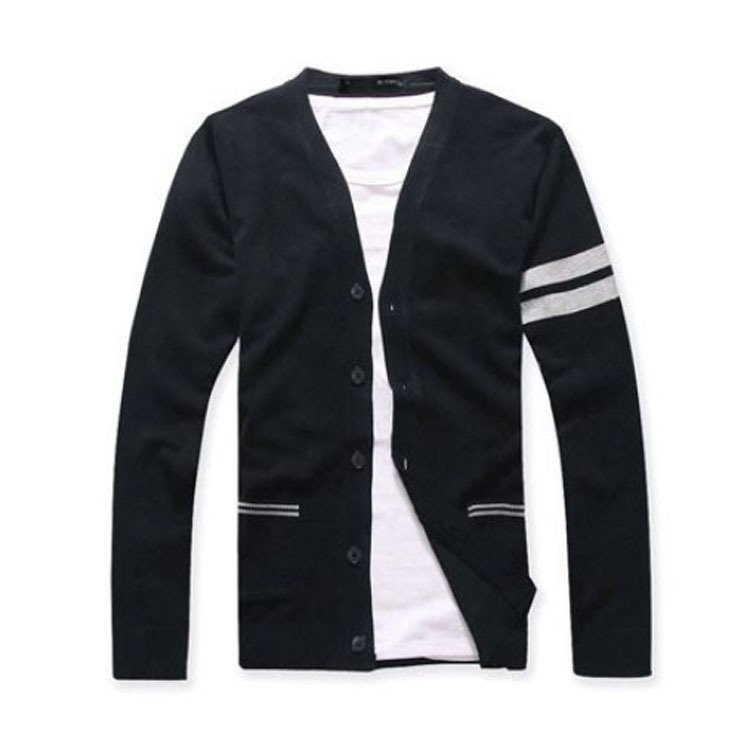 Casual design knitted v neck cardigan wholesale for man