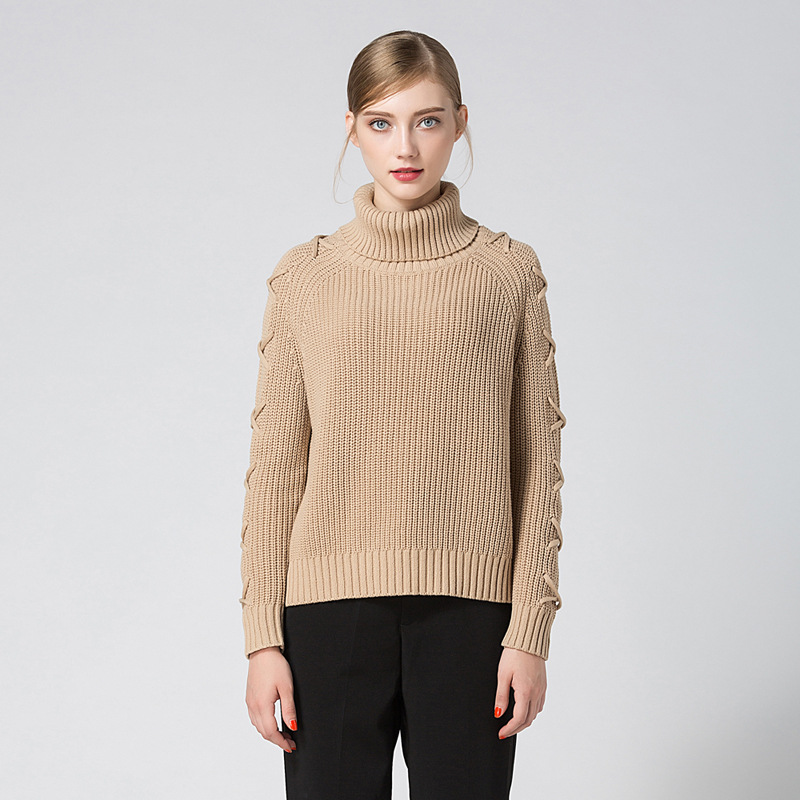 2018 New collection winter turtleneck warm sweater for womenViews777
