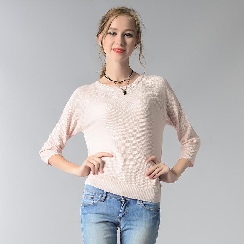 High quality OEM 12GG trendy girls' summer/autumn knitwear