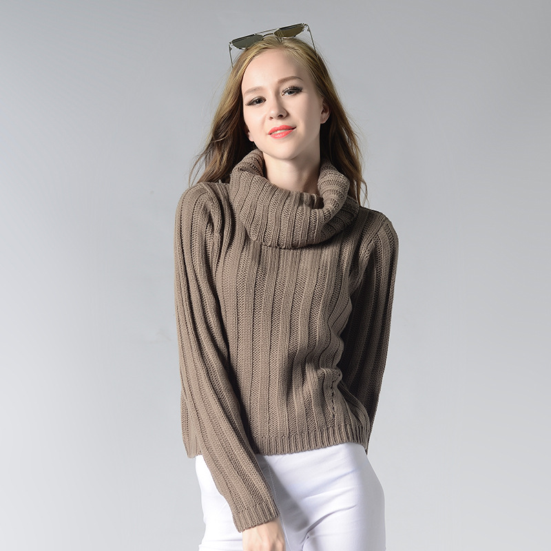 2018 New knitwear collection for ladies 7GG woolen turtleneck winter sweater