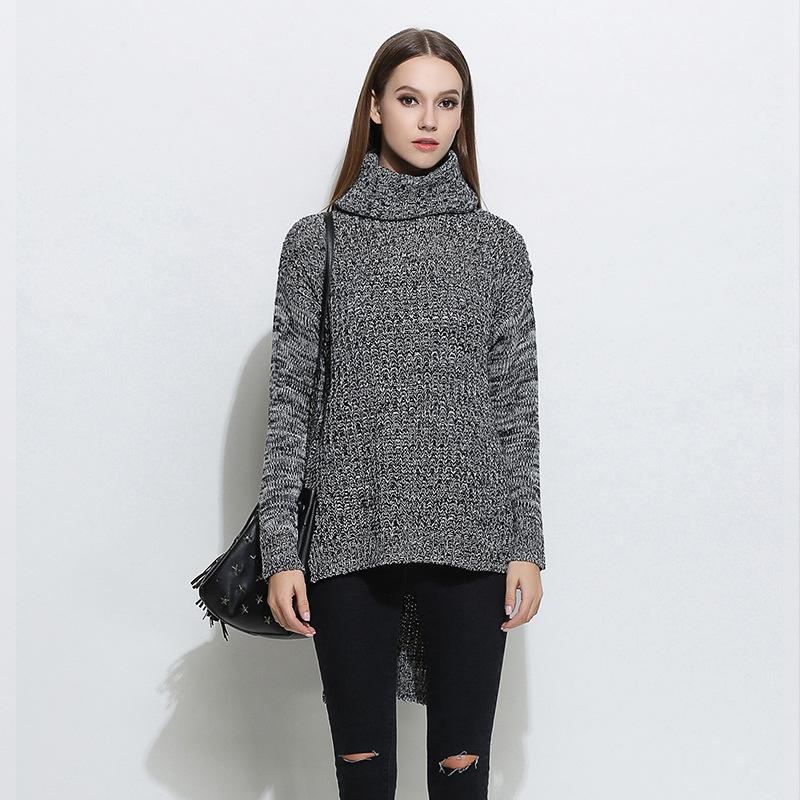 Newest model good quality boutique women turtleneck warm knit wear