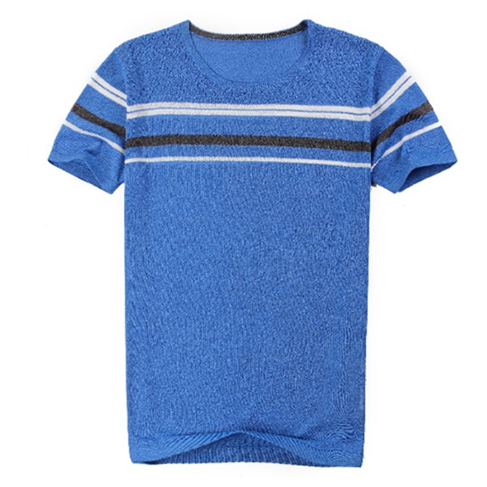 2017 Latest summer design 100% cotton knitted t shirt for men